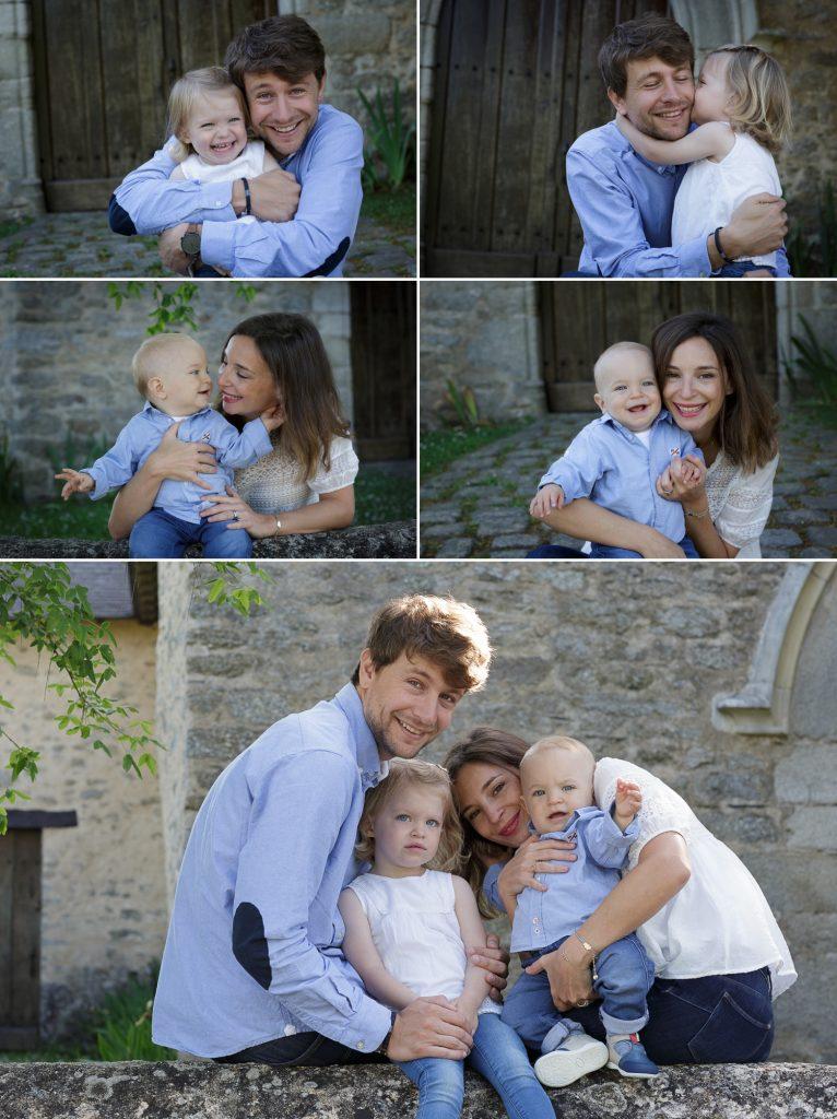famille photographiée en extérieur a treillieres